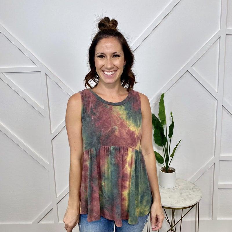 Fall Olive Tie Dye