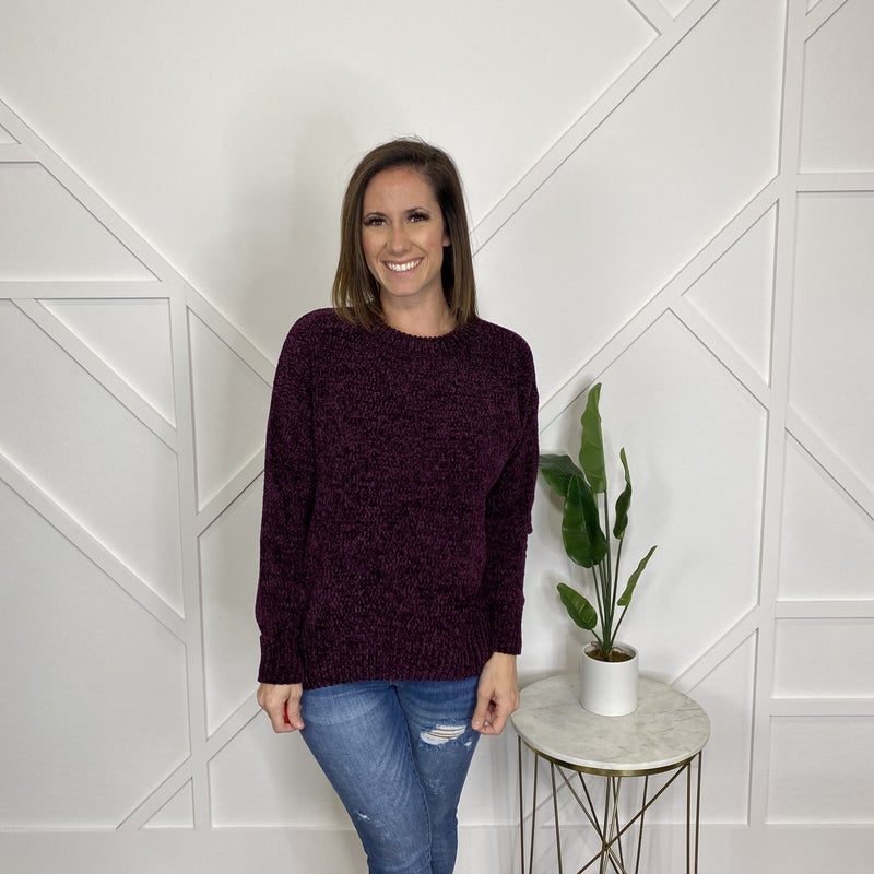 Long Sleeve Chenille Sweater