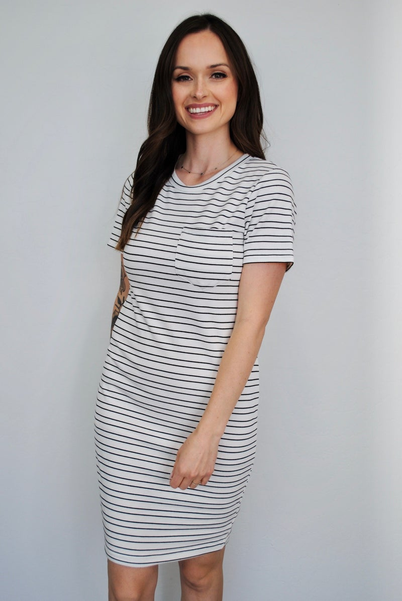 White + Black Striped