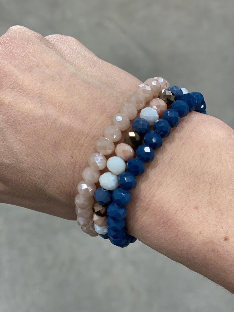 Navy Multi Bracelet Stack