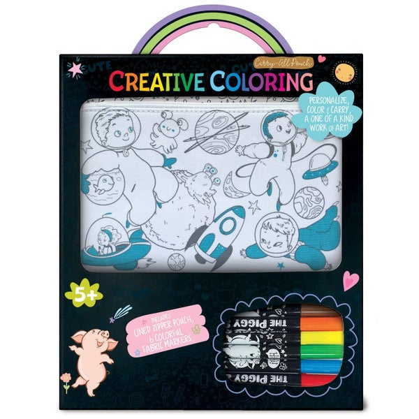 Creative Coloring: Carry All Pouch- Space Adven