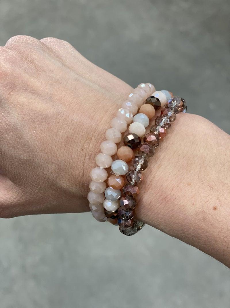 Brown Multi Bracelet Stack