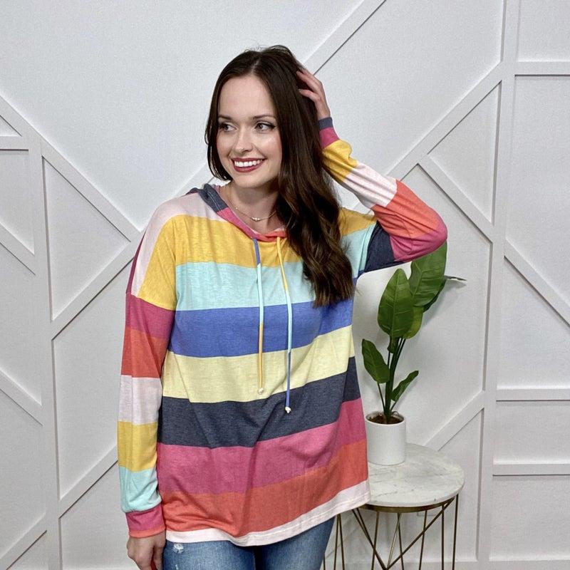 Rainbow Striped Hoodie