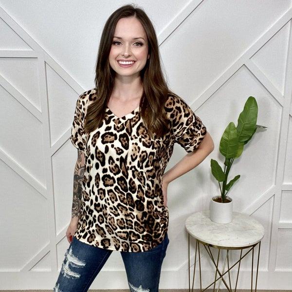 Leopard boyfriend Tee