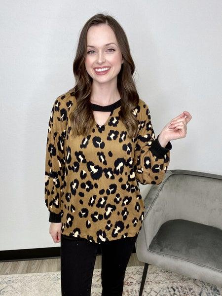 Leopard Long Sleeve w/Key Hole