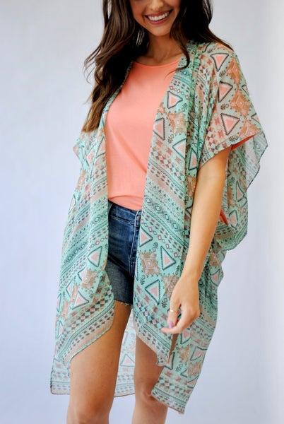 Boho Geometric Kimono