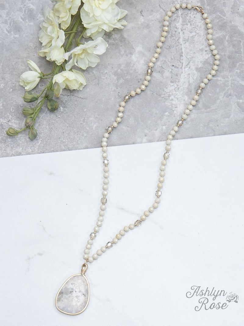 From this Moment Shimmer Necklace: Cream