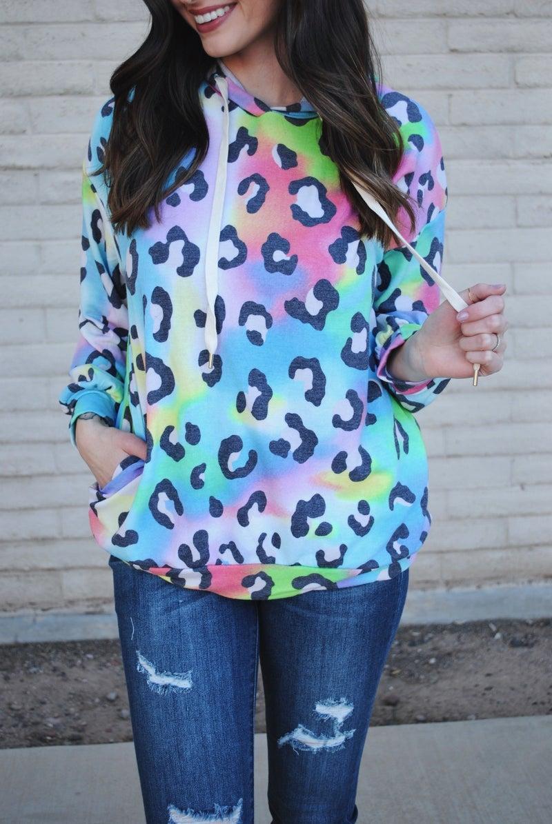 Rainbow Leopard Hoodie