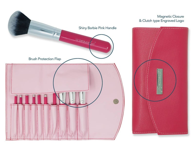 10 pcs Brush set with Pouch