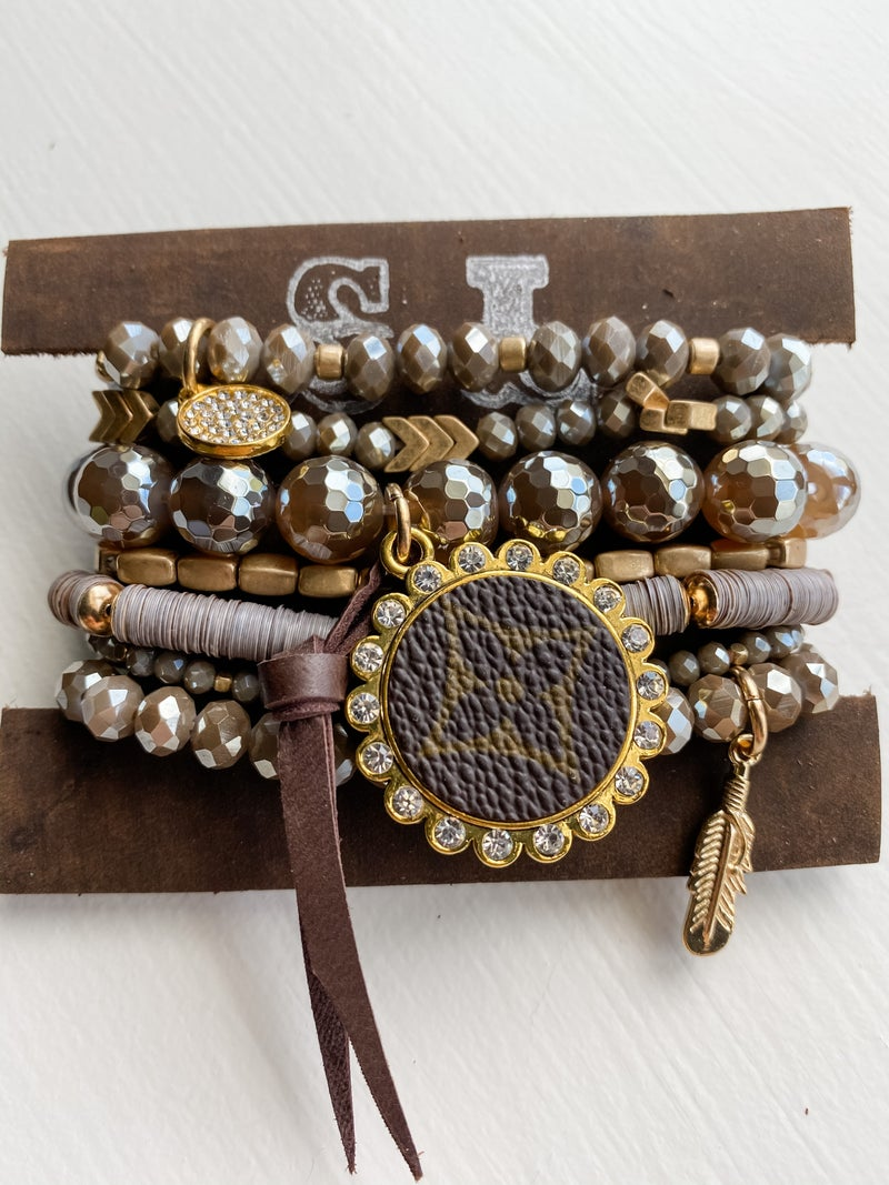 Upcycled Bracelet Stack #11