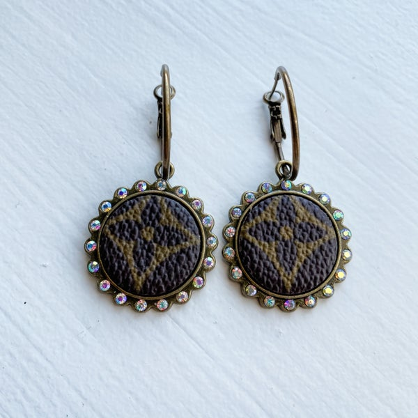 Upcycled Small Circle Earrings: Brass