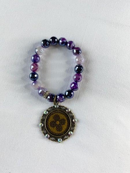 Upcycled Purple Braclet