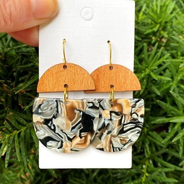 Swirl Wood and Acrylic Deco Drops