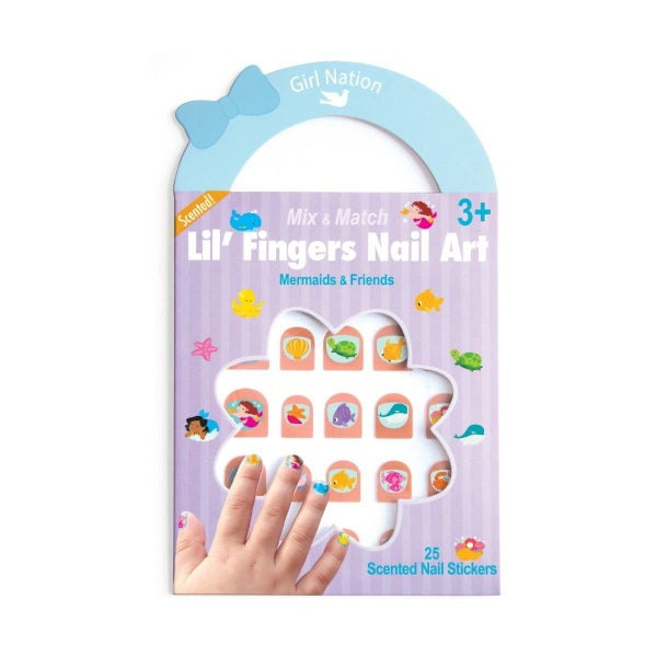 Lil' Fingers Nail Art- Mermaids & Friends