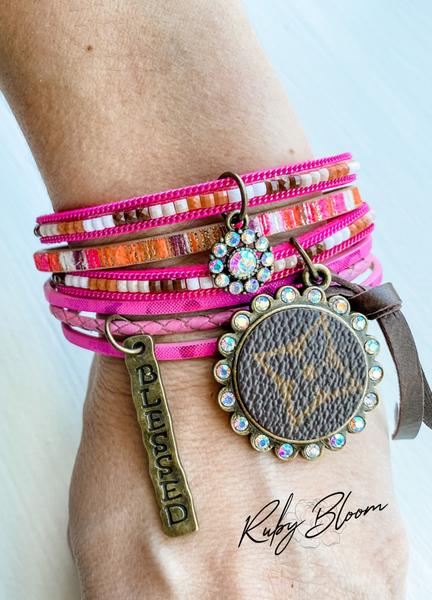 Upcycled Wrap Stack Bracelet