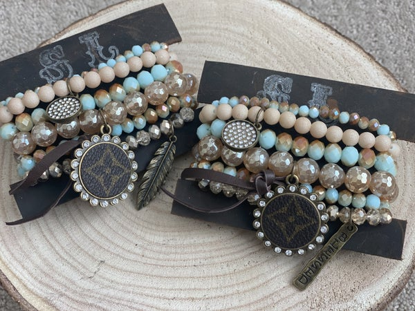 Upcycled Bracelet Stack #3