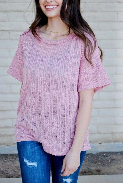 Rose Knit Top