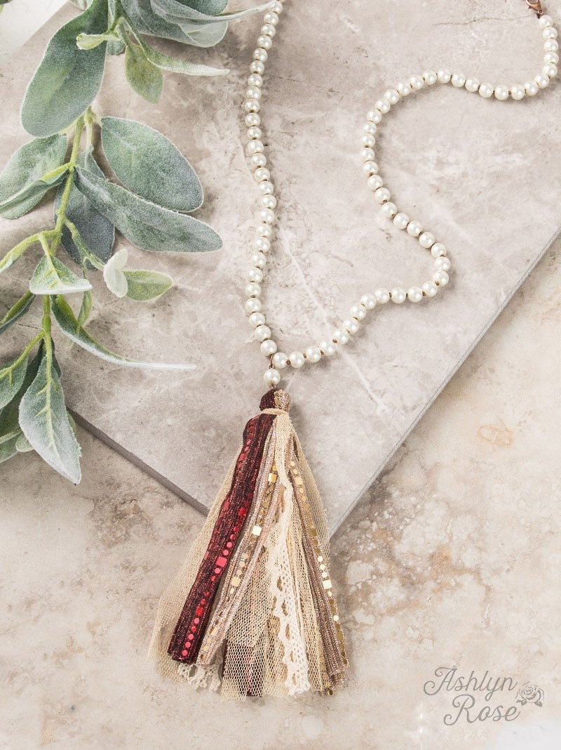 Must Be Love Pearl Tassel Necklace