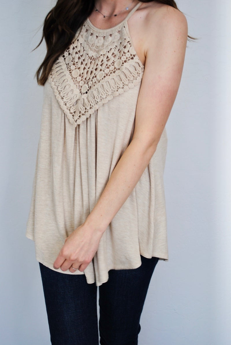 Corchet Lace Tank