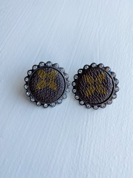 Upcycled Small Circle Earring Studs