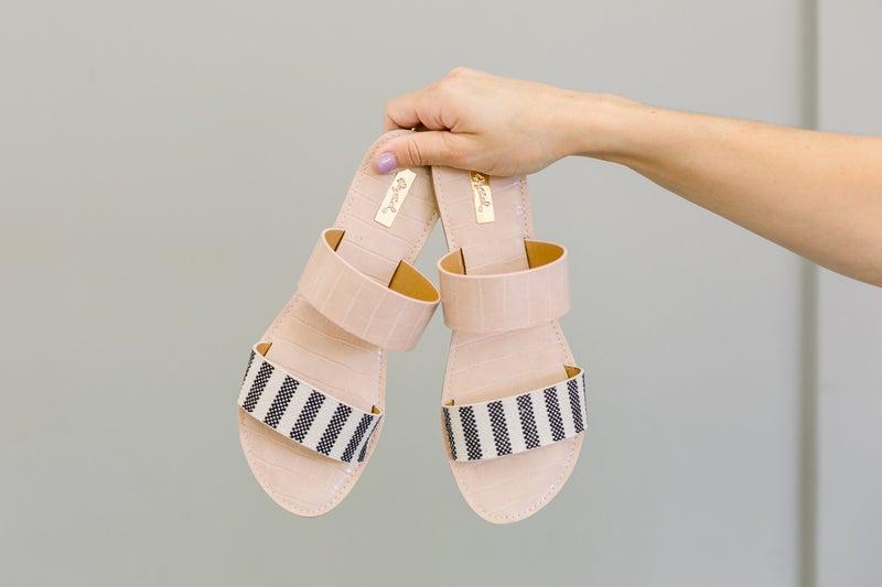 Stripe Sandal
