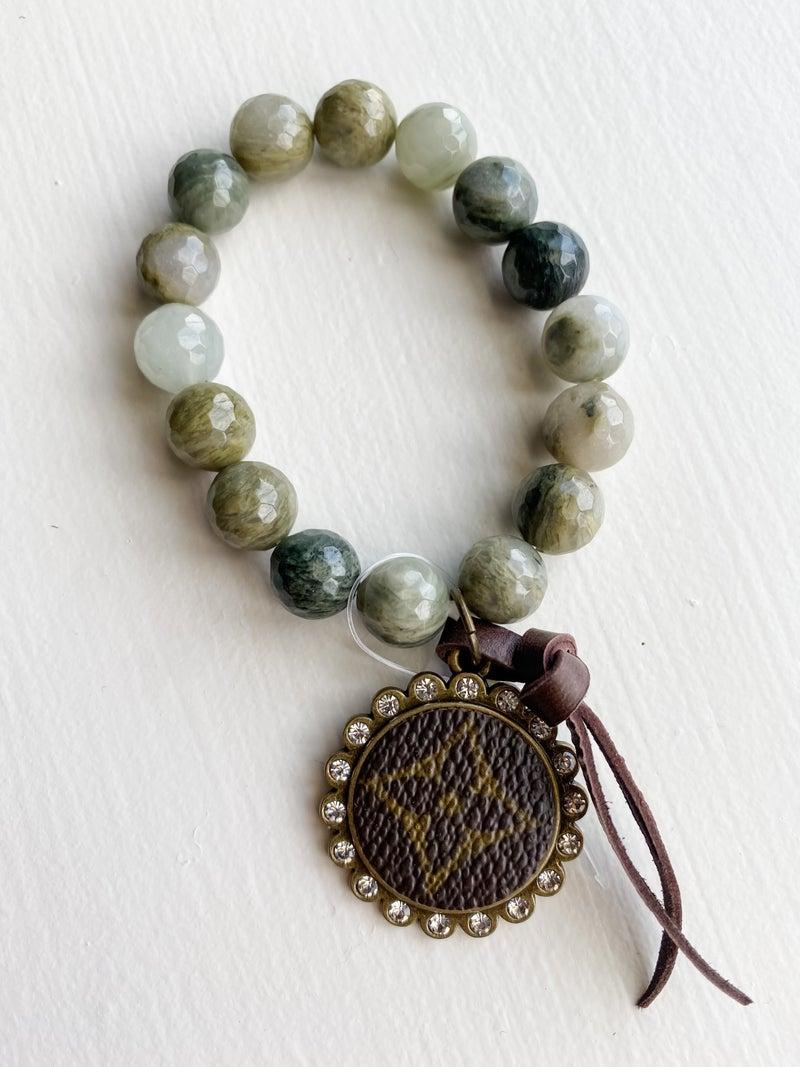 Upcycled Green Bracelet