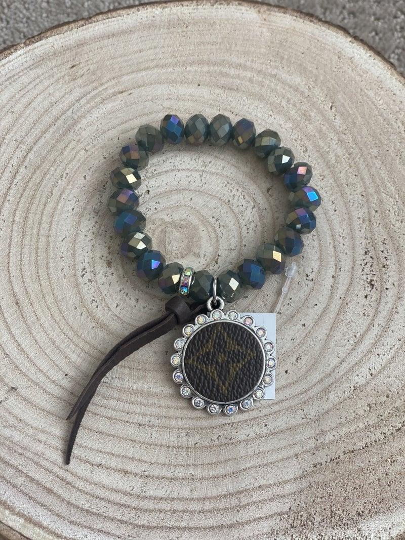 Upcycled Mermaid Beaded Bracelet