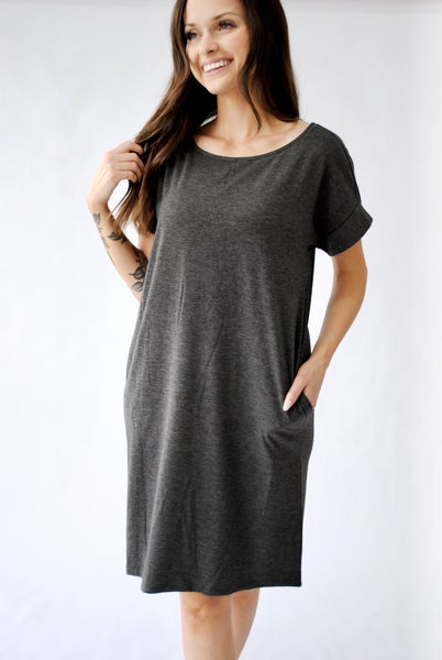 Daytripper Dress: Charcoal
