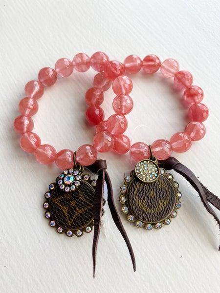 Upcycled Coral Bracelet