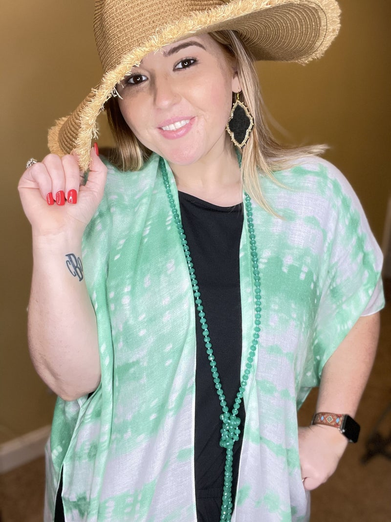 """It is Well 60"""" Wrap Necklace, Jade"""