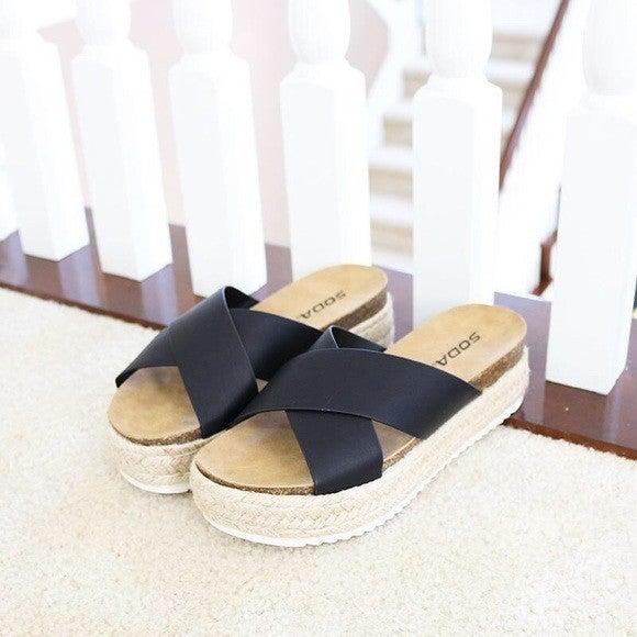Trace Our Steps Sandal, Black