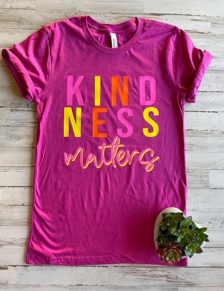 Kindness Matters Graphic Tee,Bella Berry