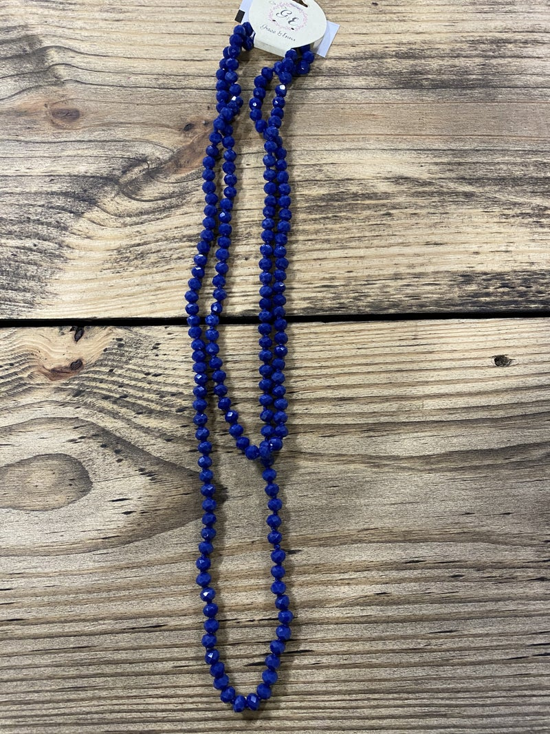 The Essential Double Wrap Beaded Necklace, Sapphire