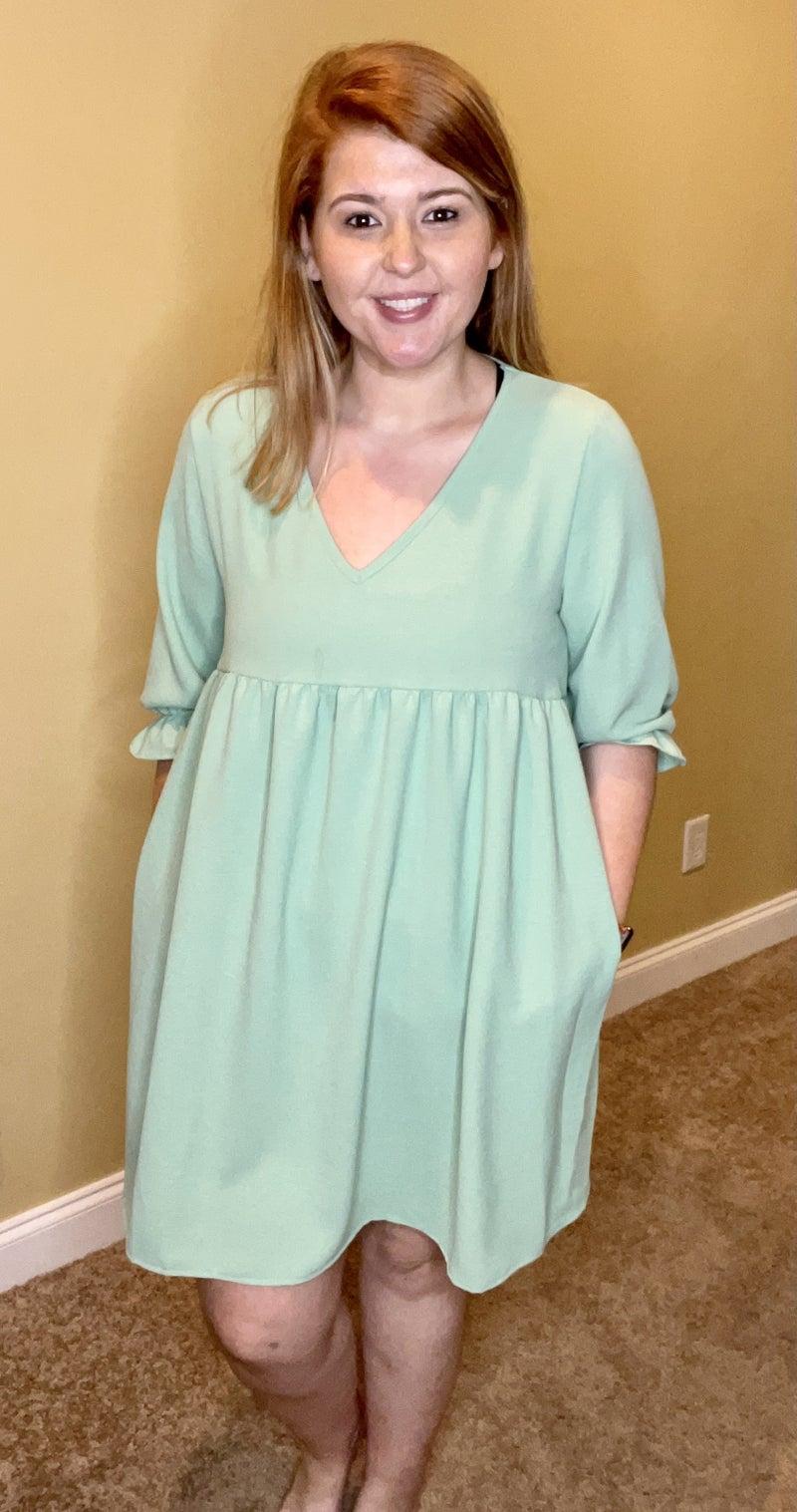 Feel The Breeze Dress,Mint