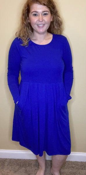 Change In Time Dress, Denim Blue *Final Sale*