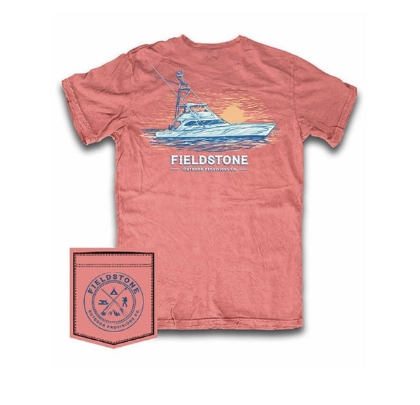 Fieldstone Sunset Boat Graphic Tee