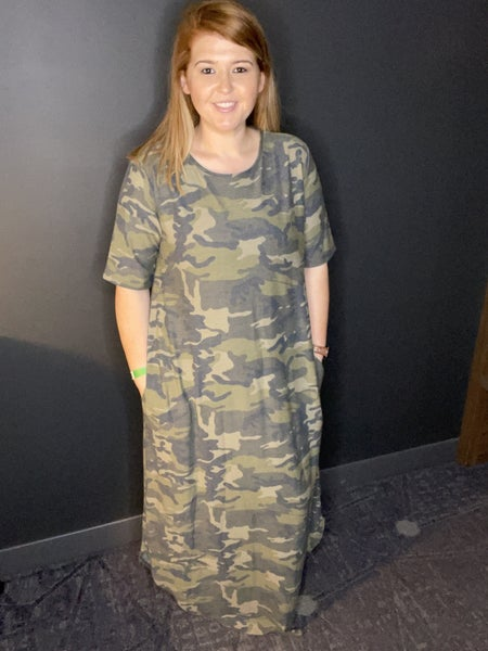 Hunting For You Curvy Maxi - Camo