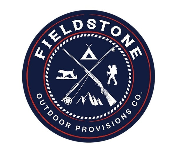 Fieldstone Navy Logo Sticker