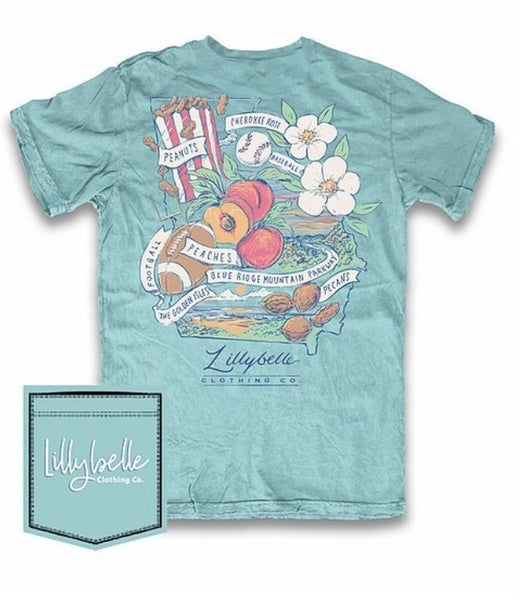 Lillybelle Georgia Peach Graphic Tee