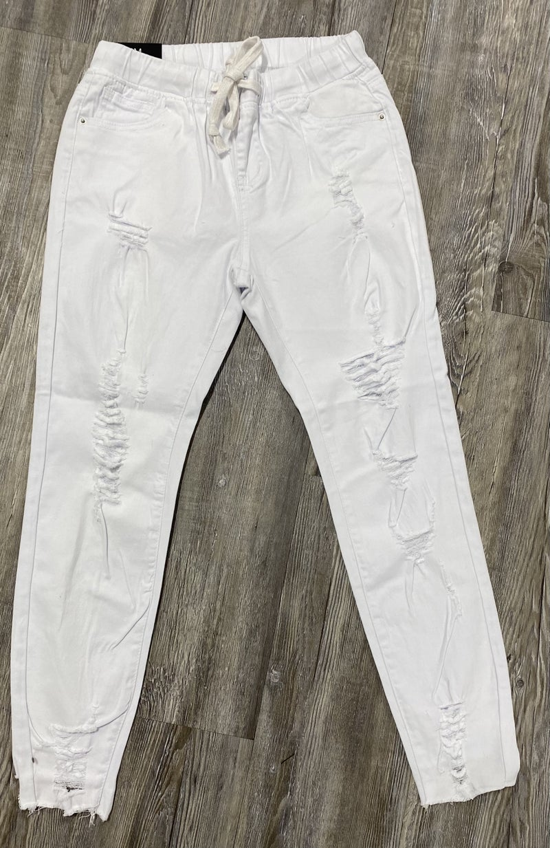 Caught Up Jogger Jeans, White