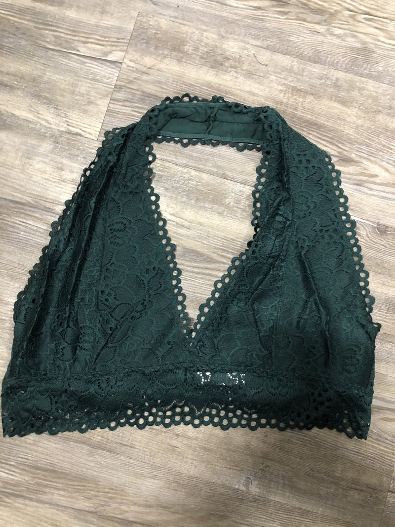 Patient Love Bralette, Hunter Green