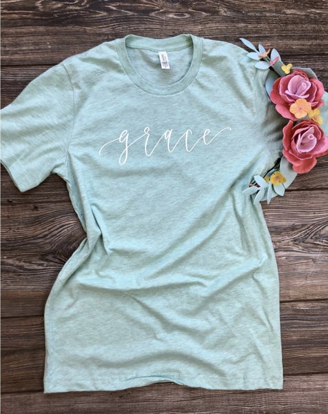 Grace Graphic Tee,Blue