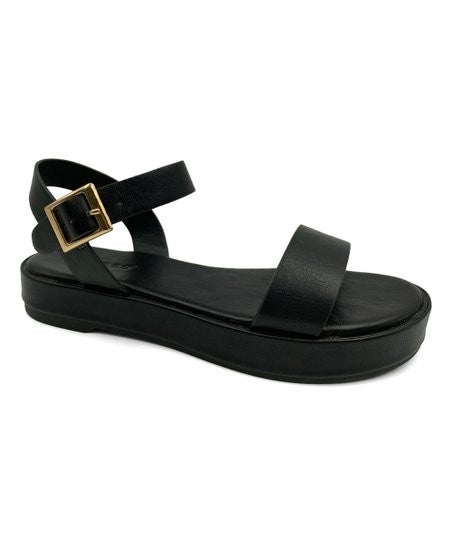 Casual Vibes Sandals, Black
