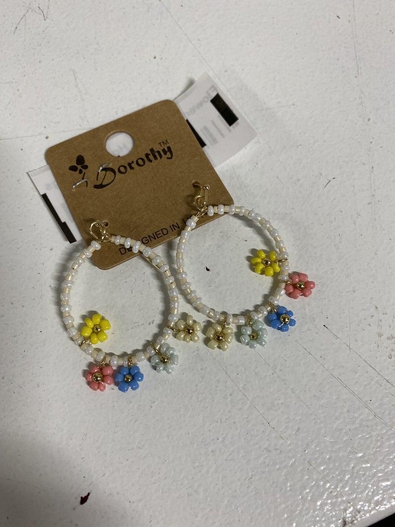 Flower Your Way Hoop Earrings