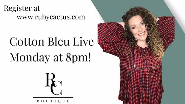 Cotton Bleu Live  at 8pm tonight!!!!