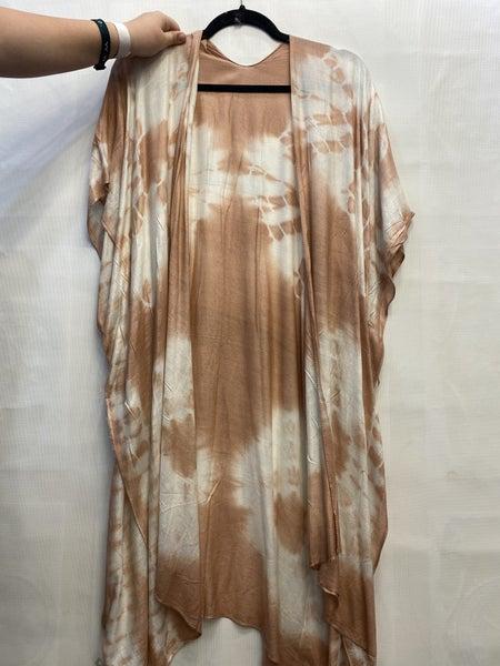 Tie Dye Mauve Kimono