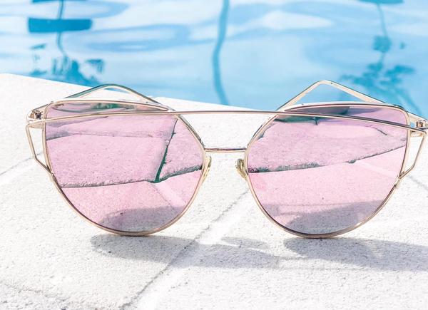 Pink Mirror Sunnies