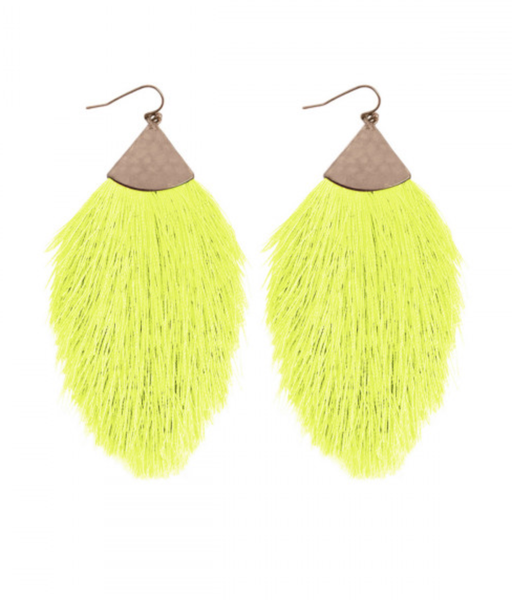 Neon Feather Earring