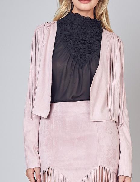 Rose Fringe Jacket