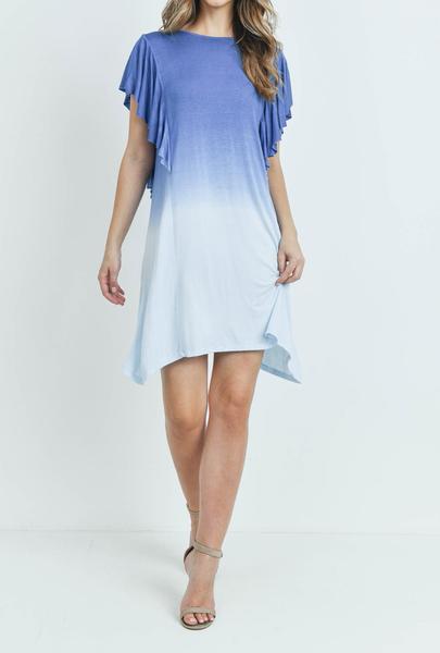 Dip Dye Flutter Dress
